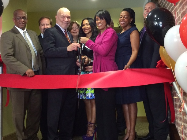 Baltimore officials on Monday celebrated the grand opening of the Fells Point Apartments.