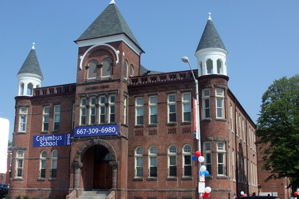 This 123-year-old building that once housed the Columbus School and represents an excellent example of Romanesque Revival architecture, is being transformed into 50 modern affordable rental housing units.