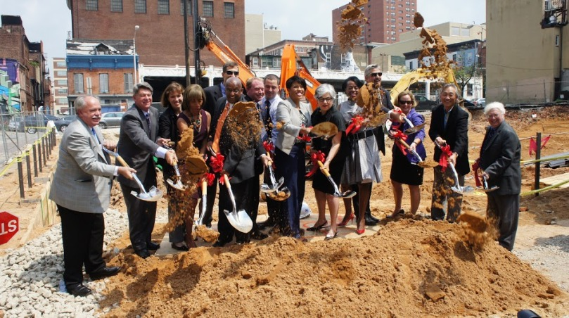 Secretary Holt joins city officials for the groundbreaking of Mulberry at Park Apartments, a 68-unit building that will provide affordable housing for Baltimore City residents.